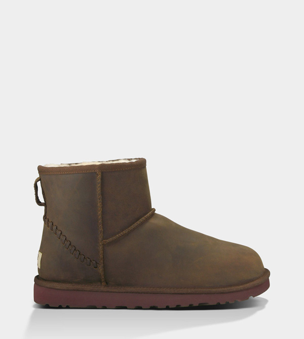 UGG MENS CLASSIC MINI DECO CHESTNUT FOR SALE