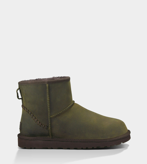 UGG MENS CLASSIC MINI DECO BURNT OLIVE FOR SALE