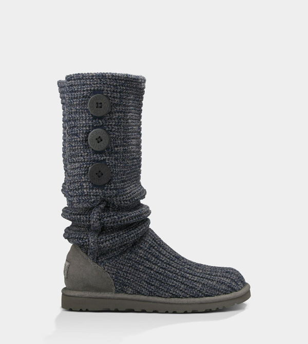 UGG WOMENS CLASSIC CARDY NAVY/CHARCOAL FOR SALE