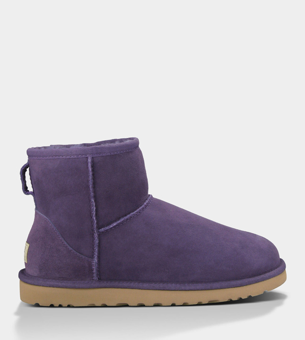 UGG WOMENS CLASSIC MINI PURPLE VELVET FOR SALE