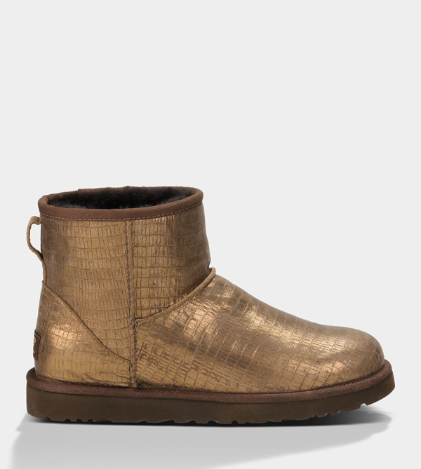 UGG WOMENS CLASSIC MINI LIZARD BRONZE FOR SALE