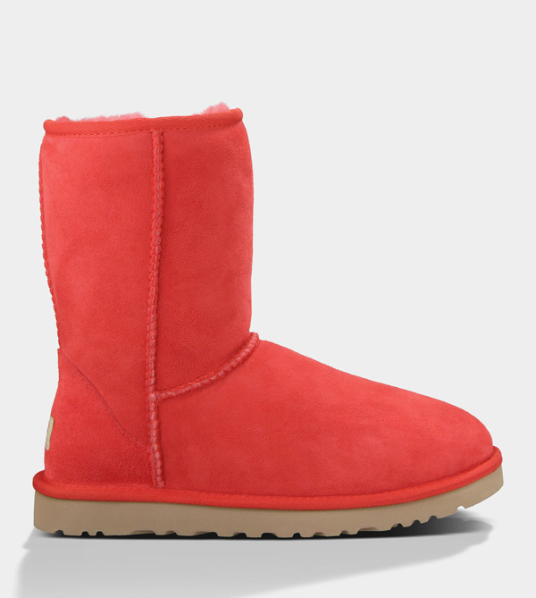 UGG WOMENS CLASSIC SHORT RED LIGHT FOR SALE