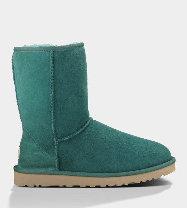 UGG WOMENS CLASSIC SHORT BILLIARD GREEN FOR SALE