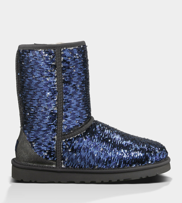 UGG WOMENS CLASSIC SHORT SPARKLES MIDNIGHT MULTI FOR SALE